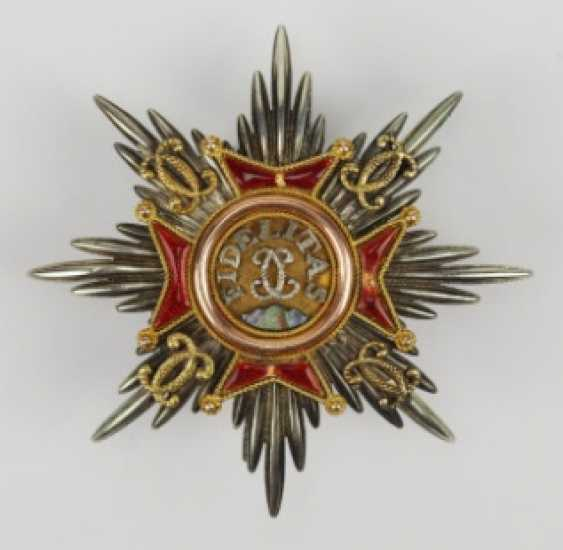 Baden: house order of Fidelity, breast star of the Duke Wilhelm of Braunschweig.