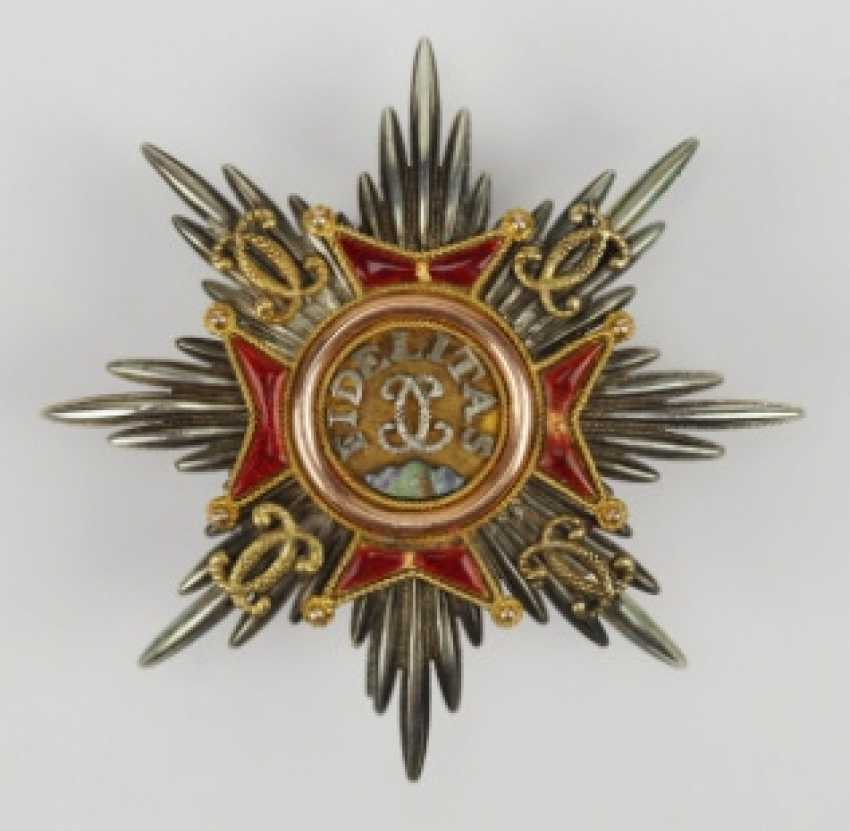 Baden: house order of Fidelity, breast star of the Duke Wilhelm of Braunschweig. - photo 1
