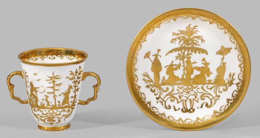Double handle mug with Augsburg gold Chinese - photo 1
