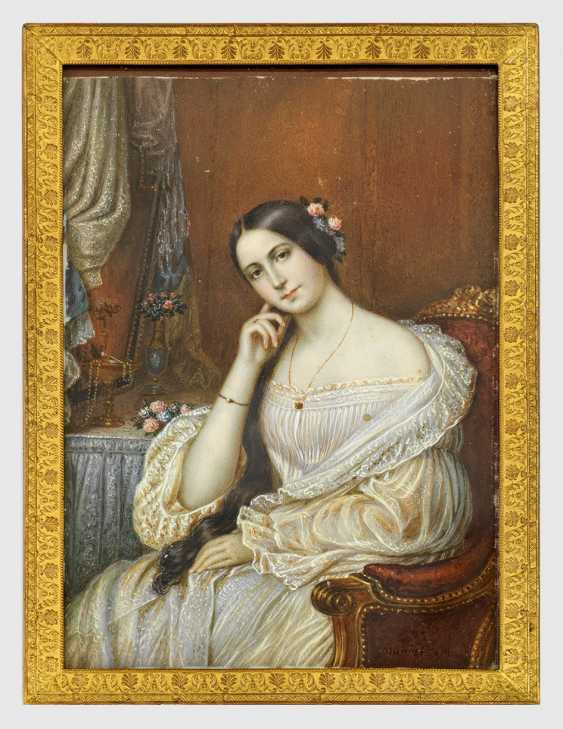 Biedermeier Portrait Of A Lady - photo 1