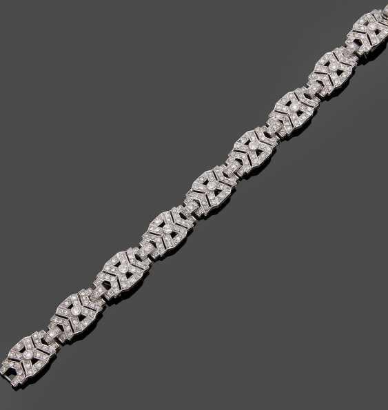 Art Deco-Diamantarmband - photo 1