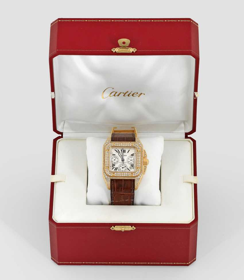 Men's watch with diamonds by Cartier - photo 1