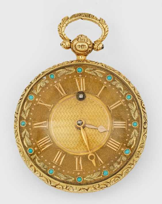 Golden Spindeluhr with Turquoise - photo 1