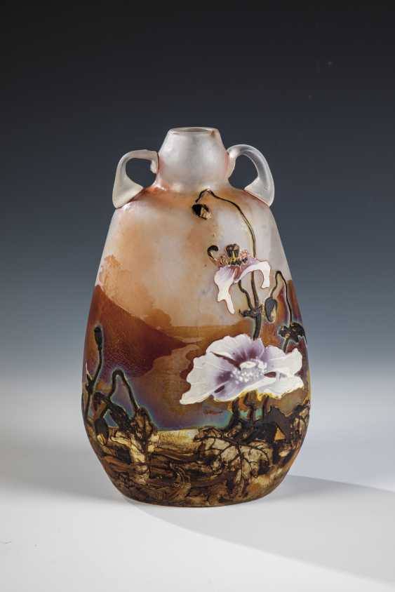 Zierhenkel vase with poppy - photo 1