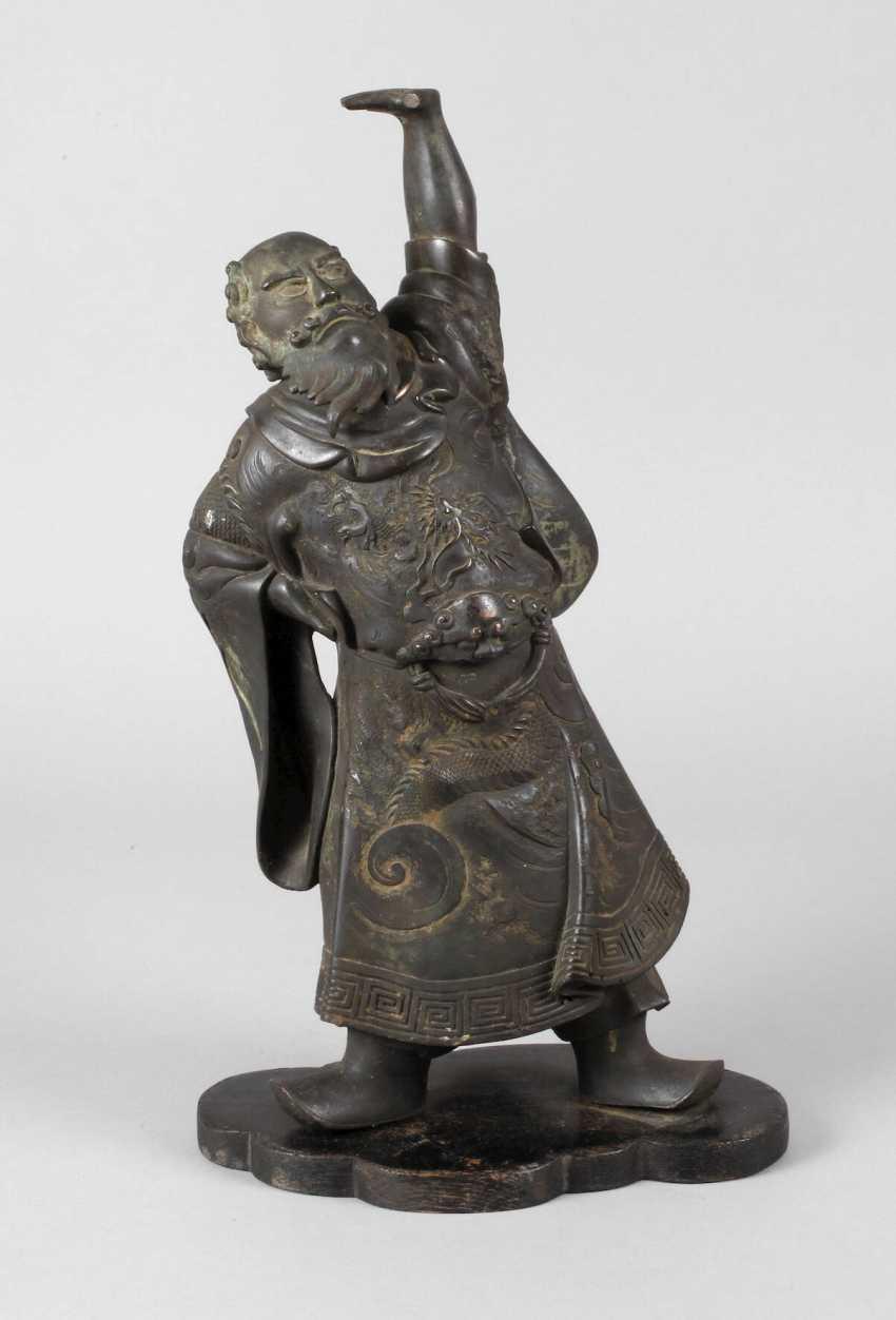 Bronzeplastik Guan Yu - Foto 1