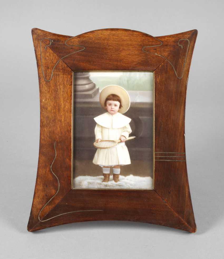 Porzellanbildplatte Kinderportrait Art Nouveau - photo 1