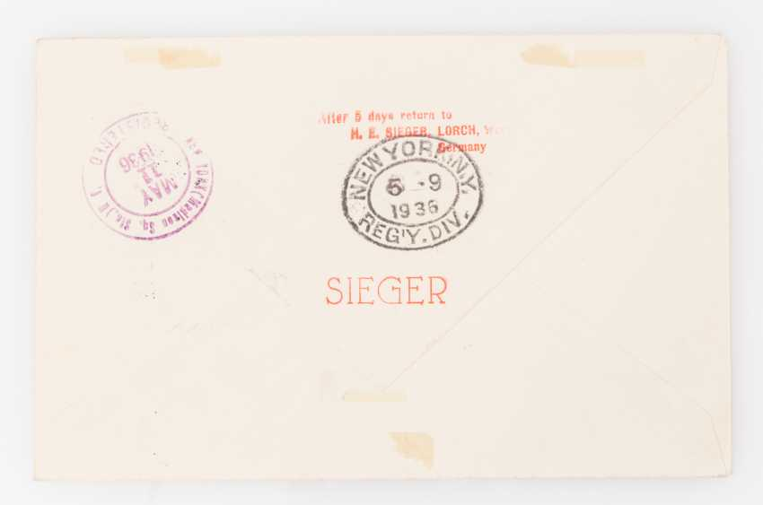 Brief Nach New York : Liechtenstein zeppelinpost lz brief ab triesenberg