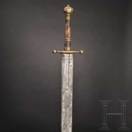 Baroque executioner's sword with scabbard, Scheer in Swabia, dated 1746 - photo 1