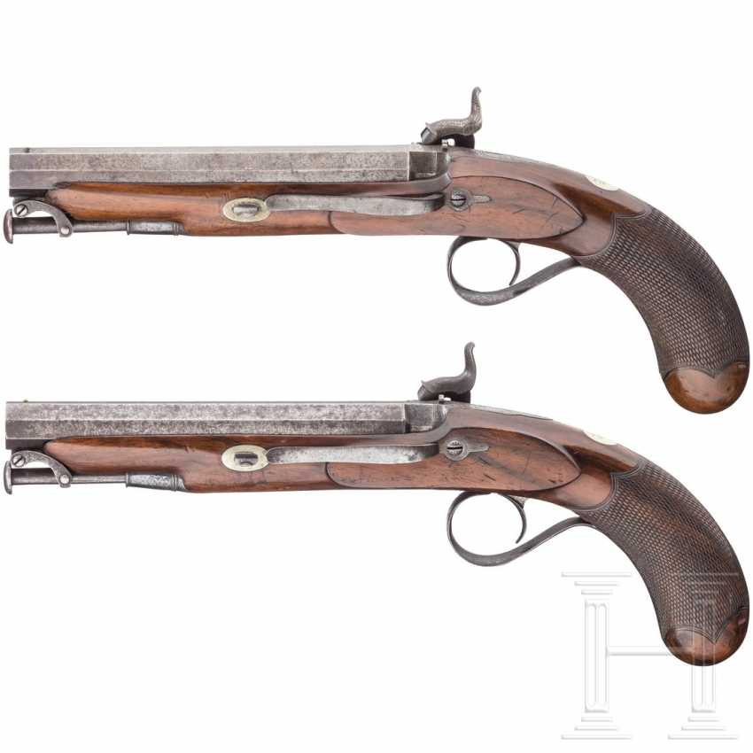 A Pair of percussion pistols in the box, Edward & William Bond, London, circa 1840 - photo 2