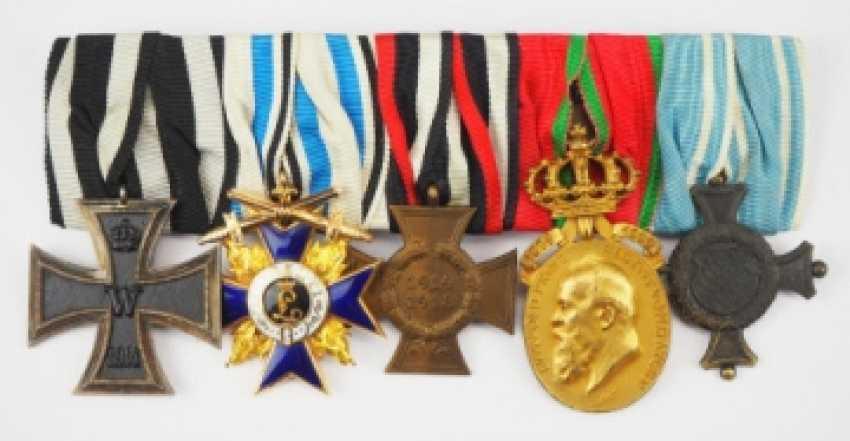 Bavaria: Great Medalbar of a brave officer of the 1.Bavarian FAR