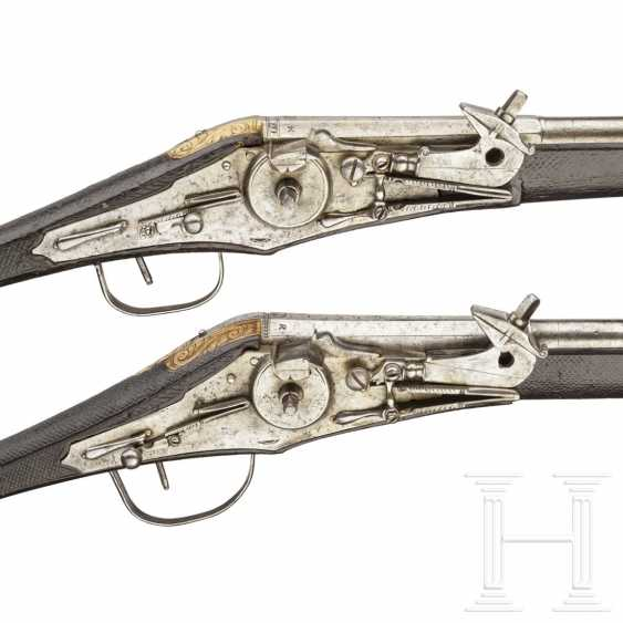 A Pair of wheel-lock buffer for the teams of the electoral body guard (2. Model), dated, respectively, 1594 - photo 6