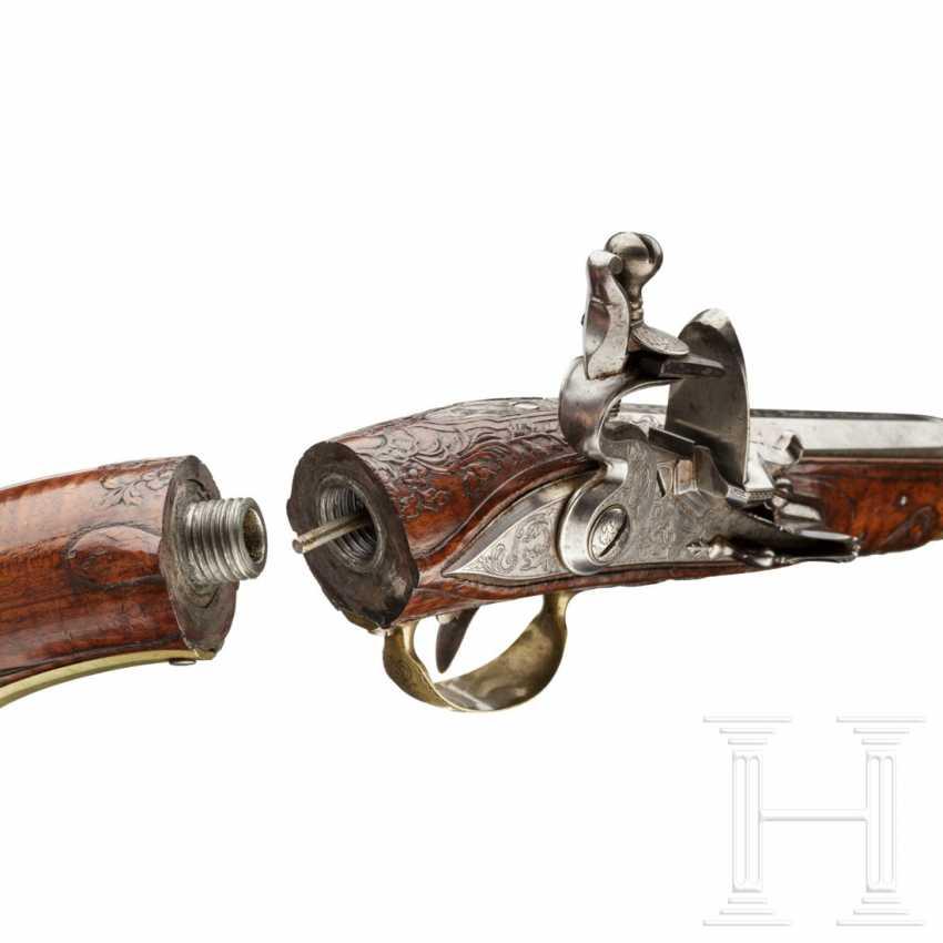 A rare Few wind pistols in flintlock-Optik, Friedrich Jacob Bosler, Darmstadt, around 1740/50 - photo 10