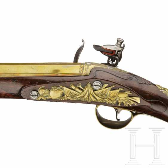 Eine extrem seltene Windpistole in Steinschloss-Optik, Edward Bates in London, um 1770 - Foto 6