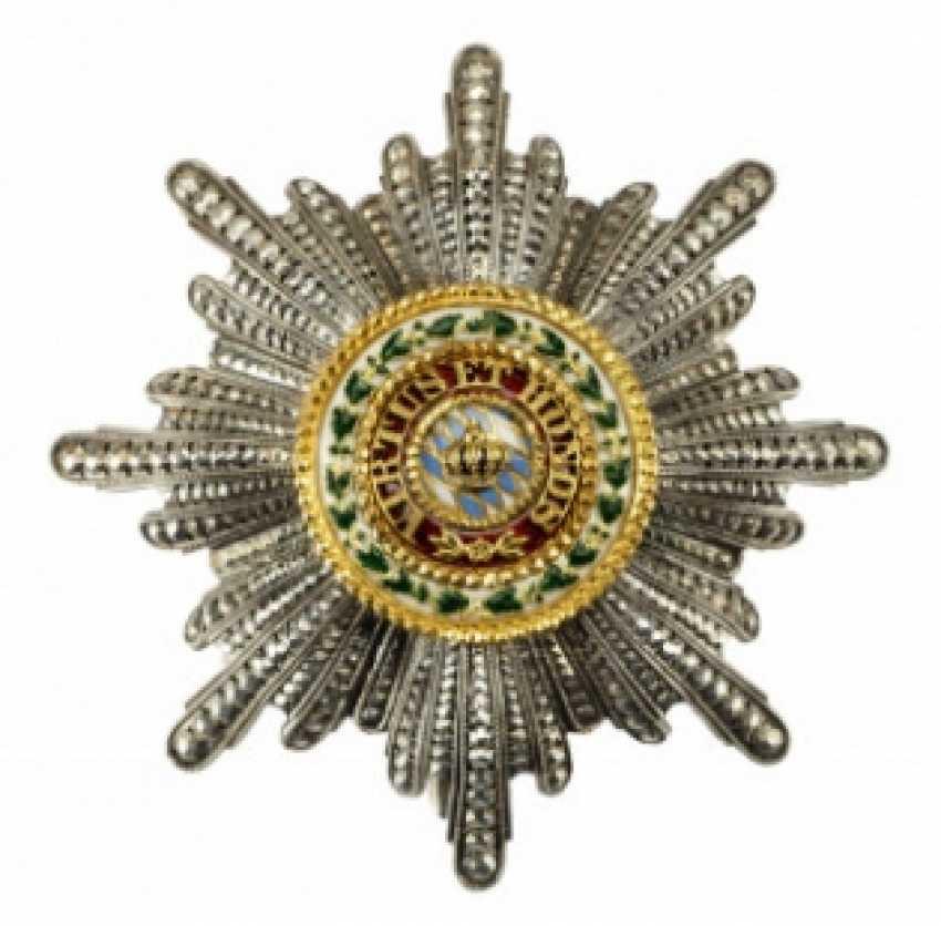 Bavaria: order of merit of the Bavarian crown, Grand cross star. - photo 1
