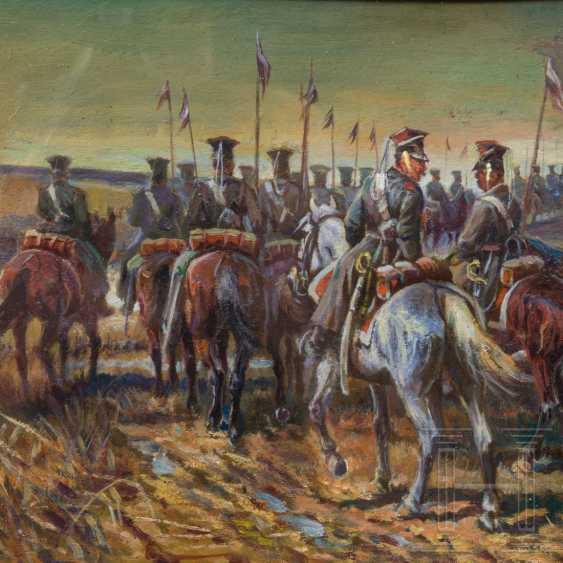 Athanasius Ivanovic Scheloumoff (1892 - 1983) - Ulan regiment on the March, 20. Century - photo 3