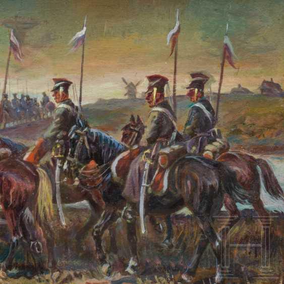 Athanasius Ivanovic Scheloumoff (1892 - 1983) - Ulan regiment on the March, 20. Century - photo 4