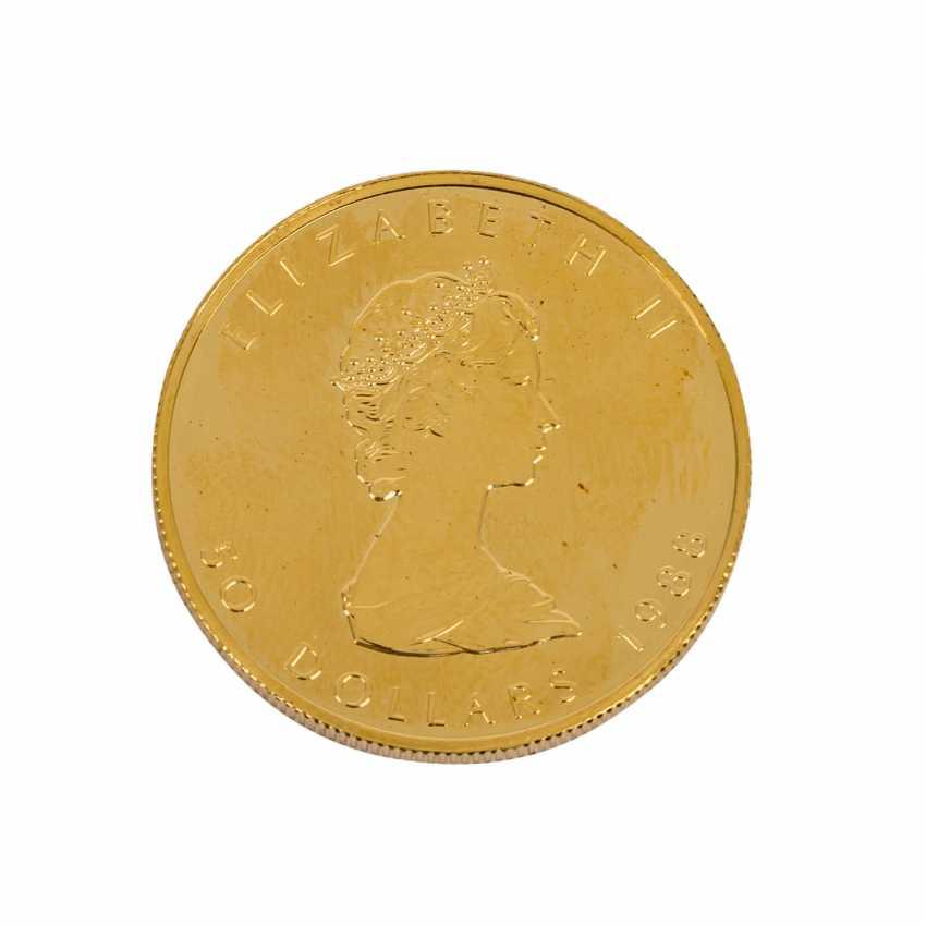 Kanada Gold - 50 Dollars 1988, - photo 2