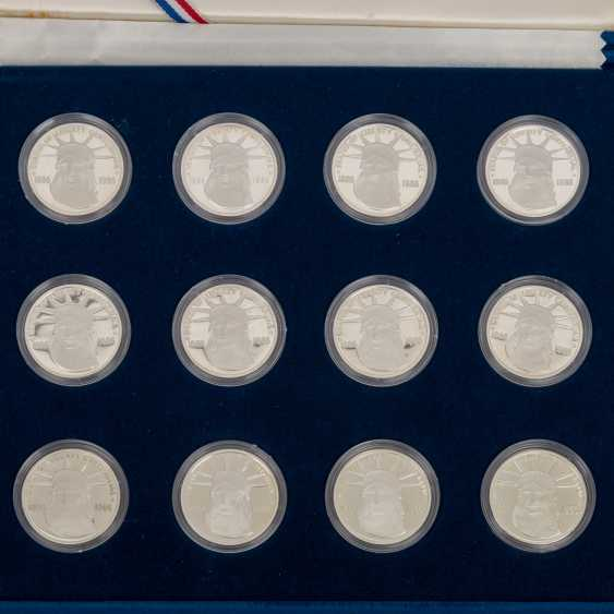 USA / silver - 26 medals-Sterling silver and 1 US Dollar in 1991, - photo 4