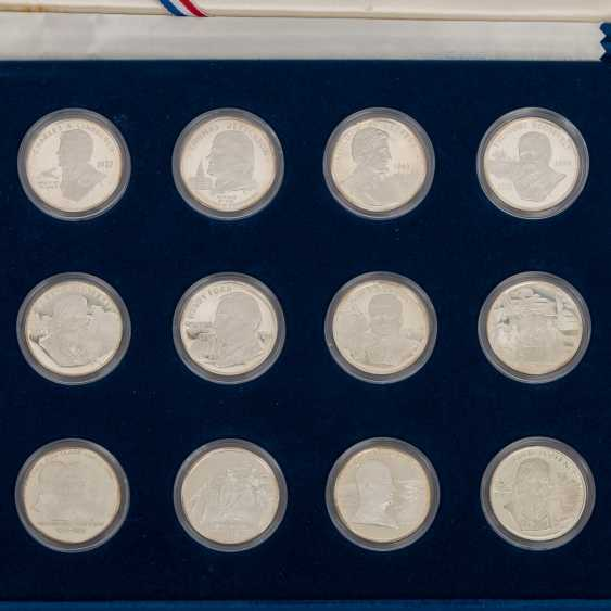 USA / silver - 26 medals-Sterling silver and 1 US Dollar in 1991, - photo 5