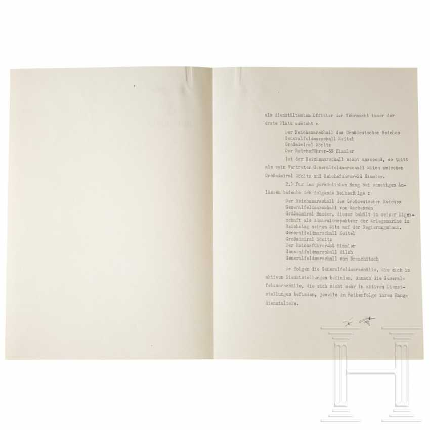 Arrangement of Hitler to the Wehrmacht commander-in-chief, with the determination of the order of the GFM and great admirals from the 22.2.1944 copy of Göring - photo 2