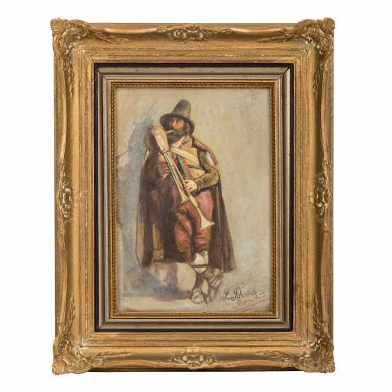 "PASSINI, L., well-Ludwig Johann (1832-1903), ""bagpiper"", - photo 2"