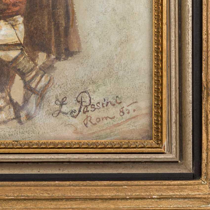 "PASSINI, L., well-Ludwig Johann (1832-1903), ""bagpiper"", - photo 3"
