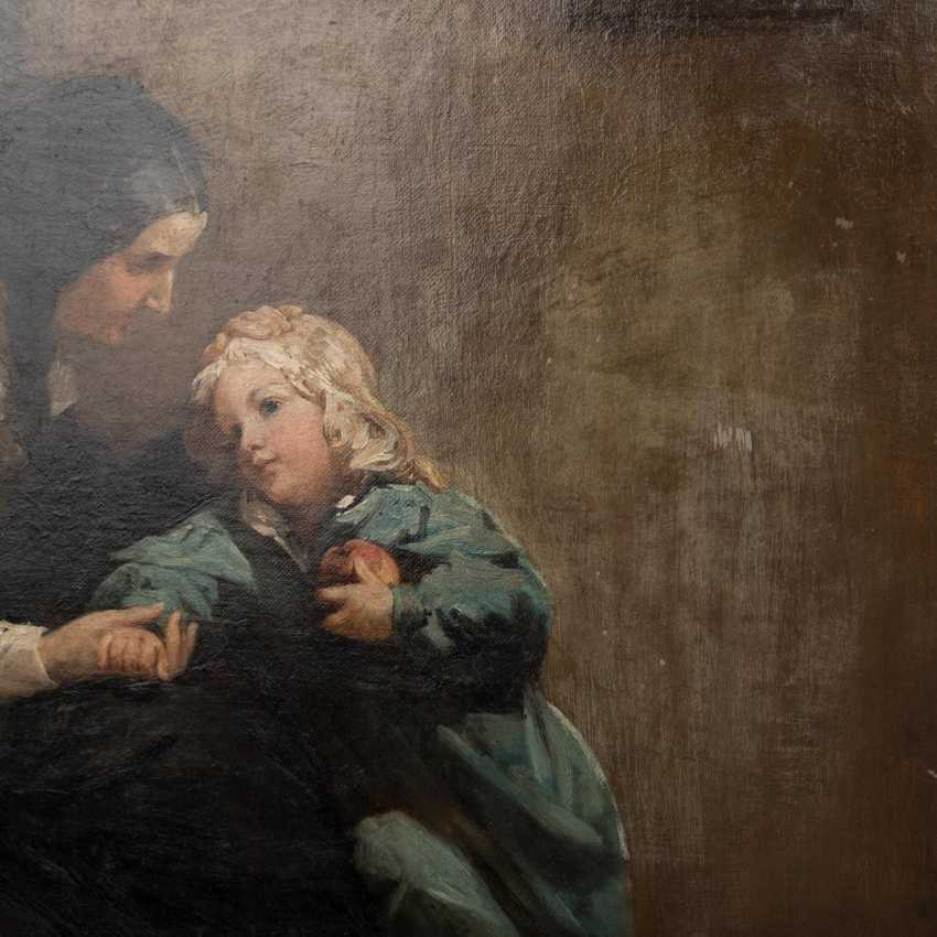 "Hassel Horst, JOHANN HEINRICH (1825-1904), ""mother with child in the room"", - photo 6"