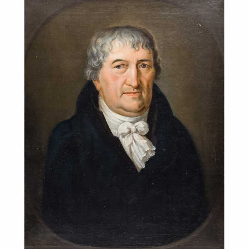 "Painter 18./19. Century, ""Portrait of JOHANN WILHELM MOHL, pastor in Weißach"", - photo 1"
