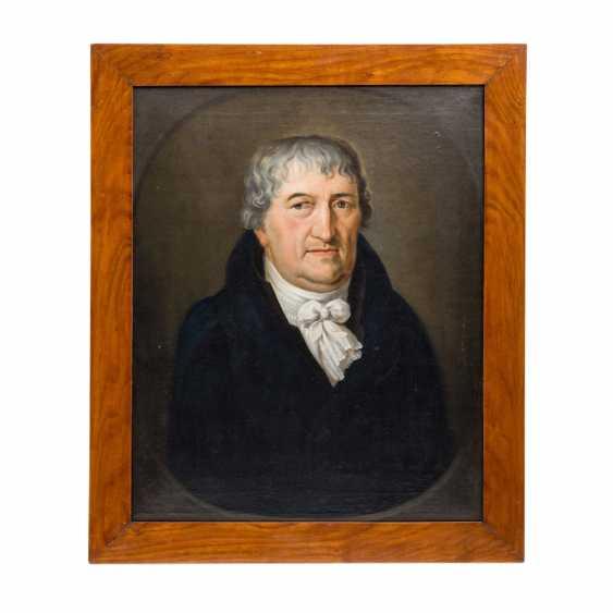 "Painter 18./19. Century, ""Portrait of JOHANN WILHELM MOHL, pastor in Weißach"", - photo 2"