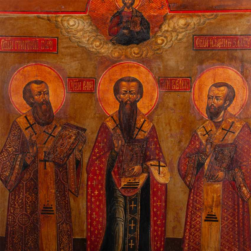 """The icon of the """"Synaxis of the three hierarchs"""" - photo 2"""