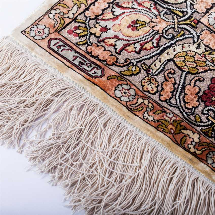 Hereke Turkish silk carpet handmade - photo 2