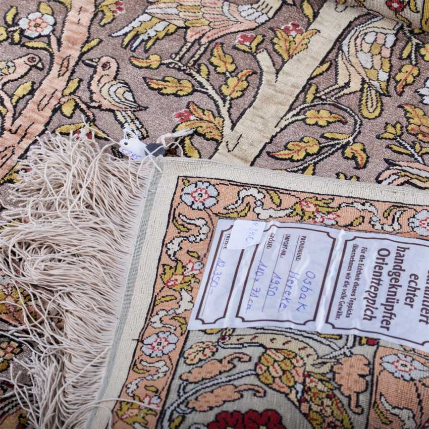 Hereke Turkish silk carpet handmade - photo 3