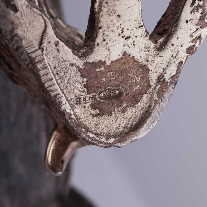 Silberne Figur Rebhuhn - Foto 5