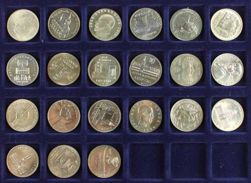 Great collection of 109 commemorative and circulation coins of the GDR - photo 2