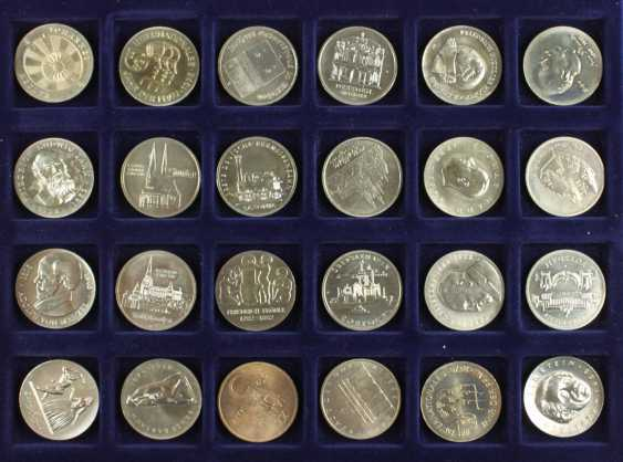 Great collection of 109 commemorative and circulation coins of the GDR - photo 3