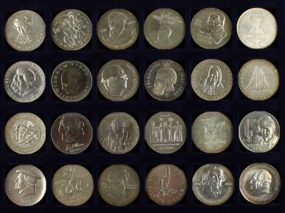 Great collection of 109 commemorative and circulation coins of the GDR - photo 4