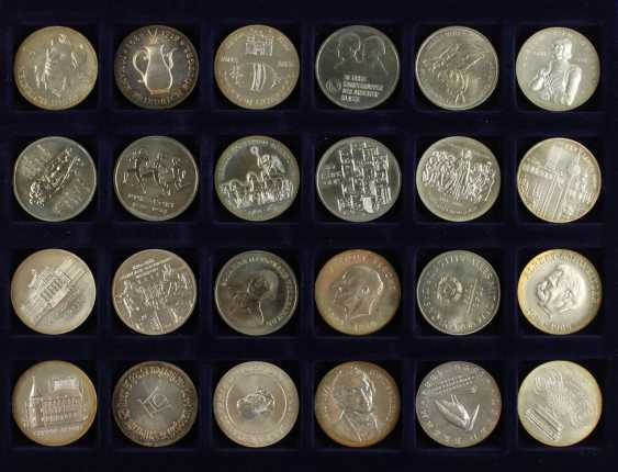 Great collection of 109 commemorative and circulation coins of the GDR - photo 6