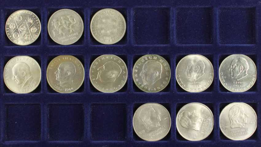 Great collection of 109 commemorative and circulation coins of the GDR - photo 7