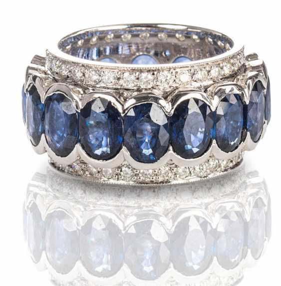 White gold ring with brilliant - photo 1