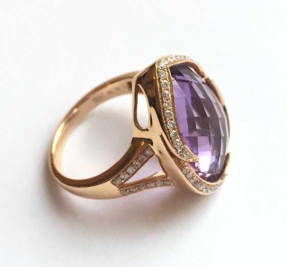 Amethyst and diamond ring - photo 2
