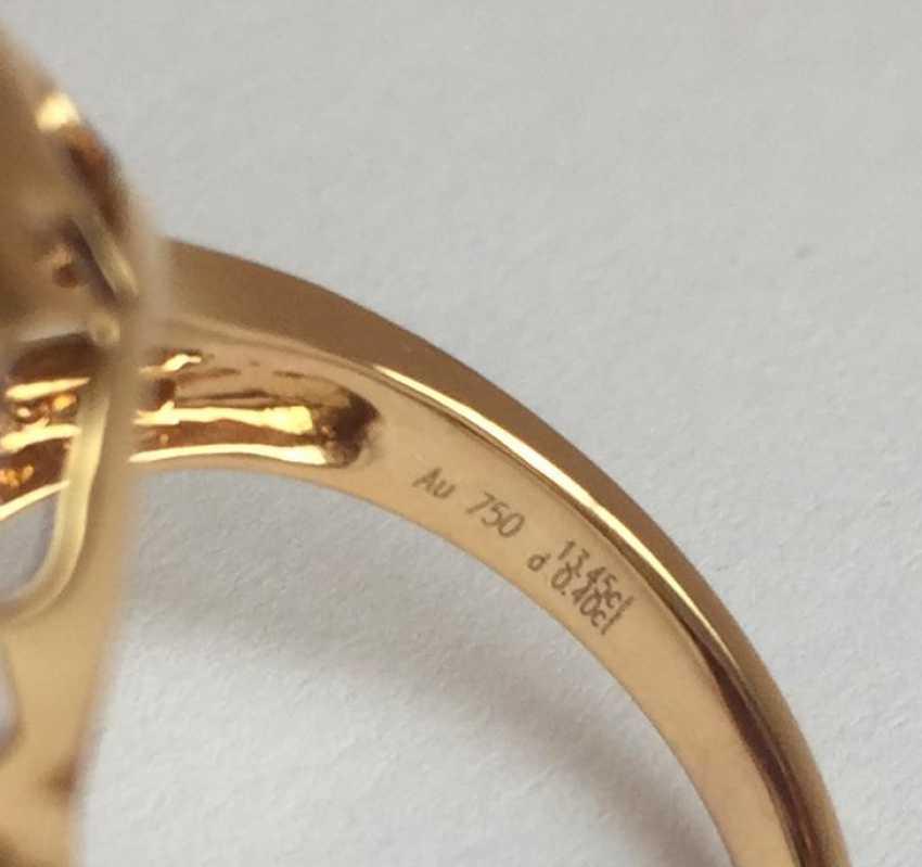 Amethyst and diamond ring - photo 4