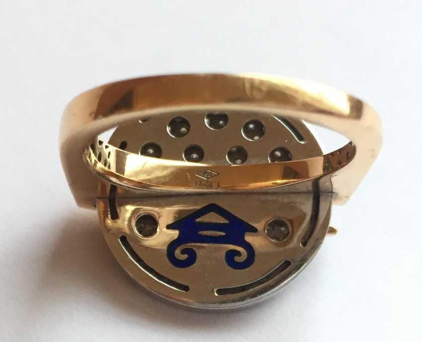 Rose gold Ring with diamonds - photo 4