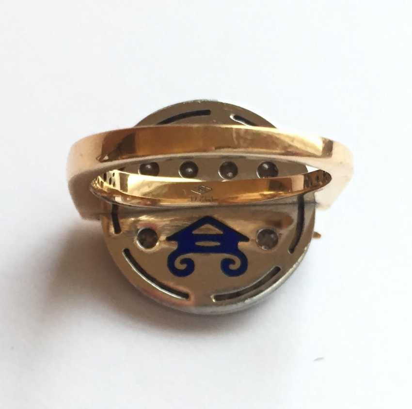 Rose gold Ring with diamonds - photo 5