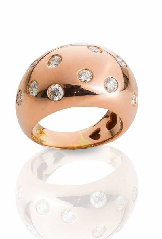 Rose gold Ring with diamonds - photo 1