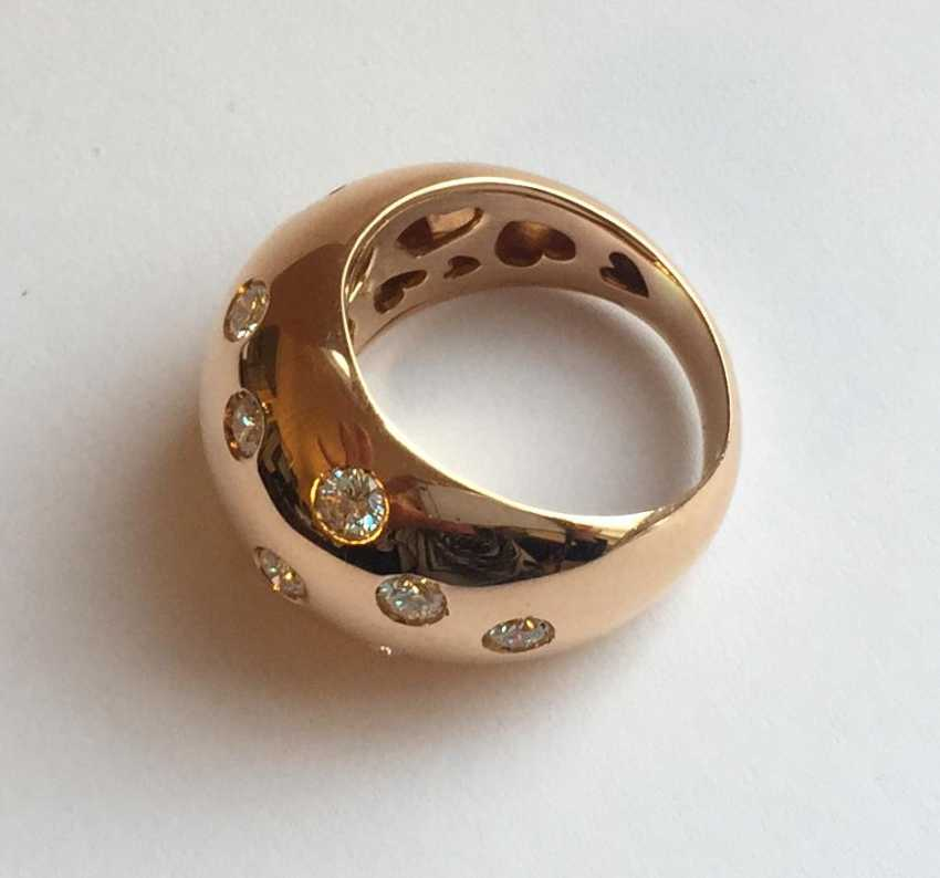 Rose gold Ring with diamonds - photo 2