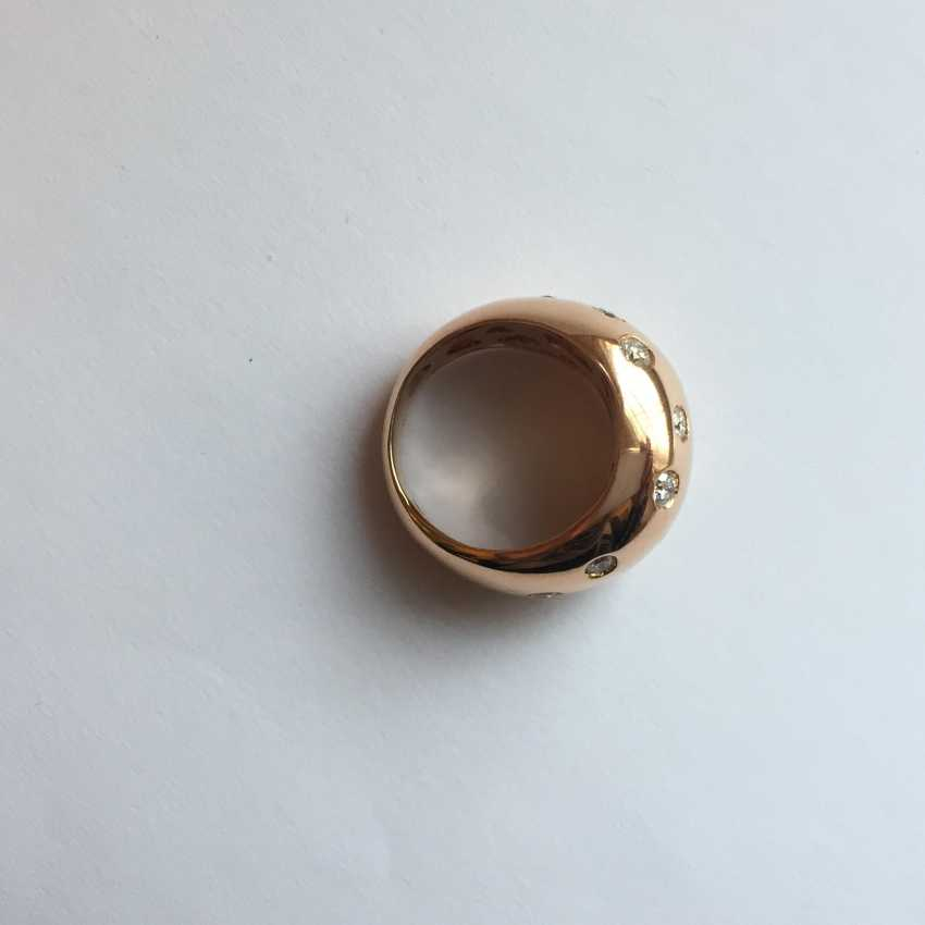 Rose gold Ring with diamonds - photo 3
