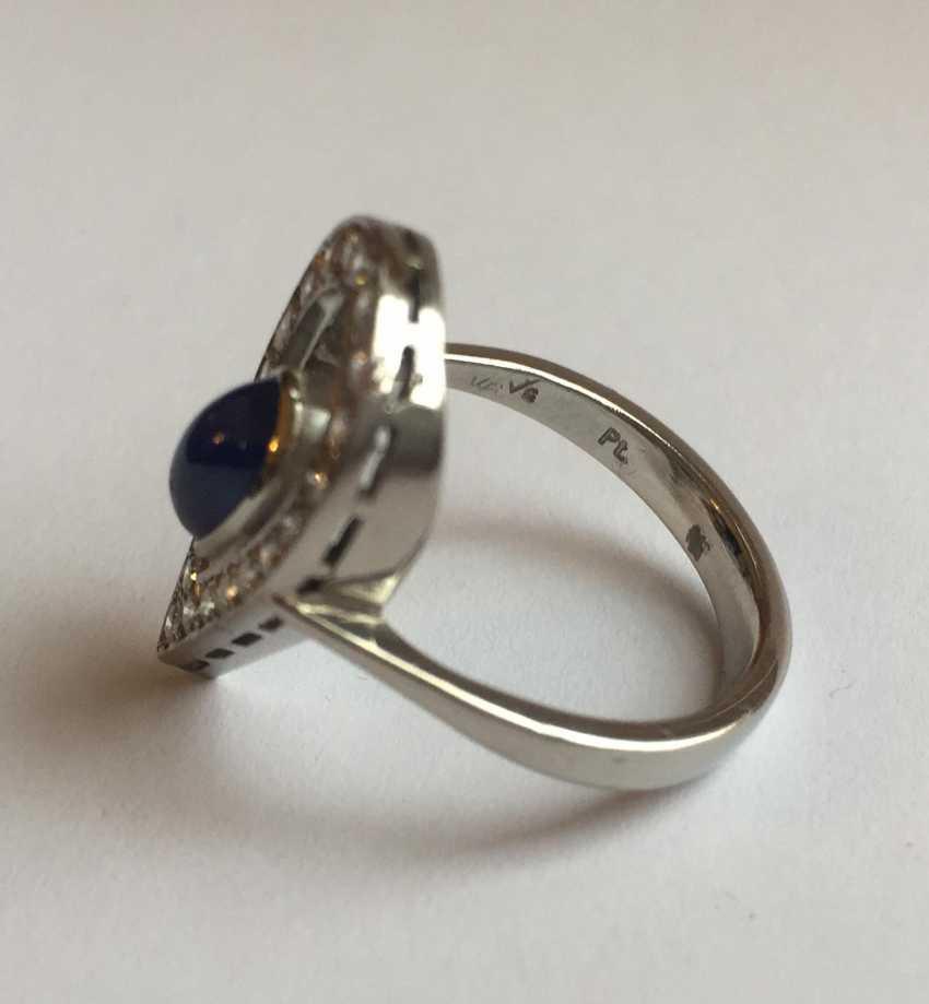 Sapphire and diamond ring - photo 5