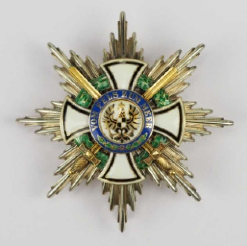 Prussia: Royal house order of Hohenzollern, star of the big commanders with swords