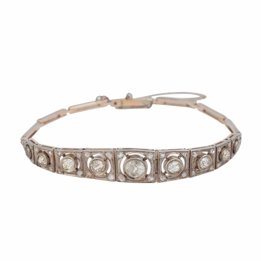 Art Deco bracelet with old European cut diamonds, together CA. 2 ct - photo 1