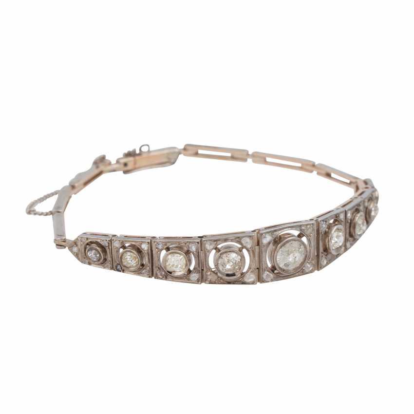 Art Deco bracelet with old European cut diamonds, together CA. 2 ct - photo 2